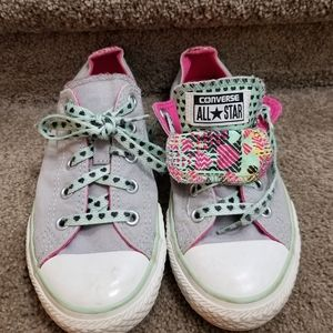 2 for $20! Gray printed Converse